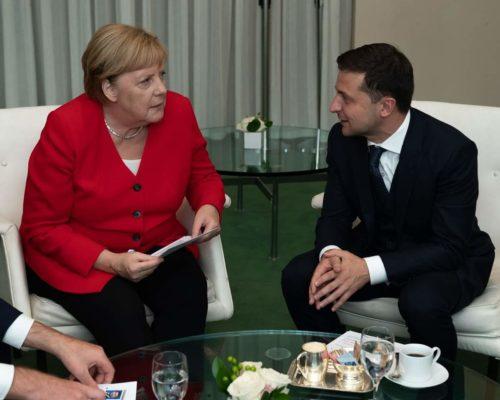 Президент України Володимир Зеленський зустрівся  з Федеральним канцлером Німеччини Ангелою Меркель.