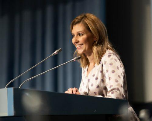Дружина Президента виступила на Конгресі педіатрів.