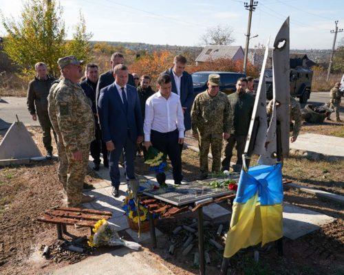Президент відвідав передову в зоні проведення ООС.