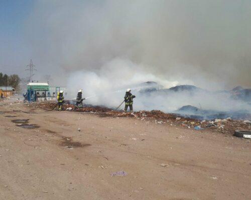 У Кропивницькому горить міське сміттєзвалище .