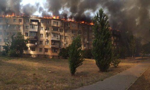 У Новій Каховці загорілася багатоповерхівка,постраждалих немає.