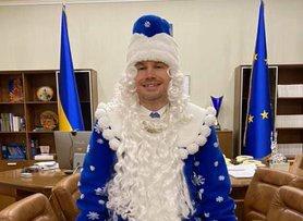 Міністр юстиції Денис Малюська в костюмі Діда Мороза відзвітував про успіхи і провали Мін'юсту за 2020 рік.